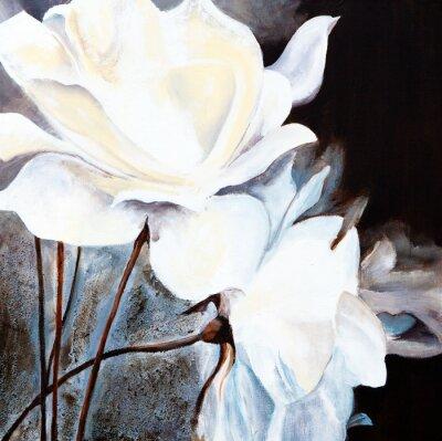 Obraz Obraz olejny : Białe róże