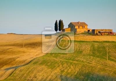 Obraz typowy krajobraz Toskanii