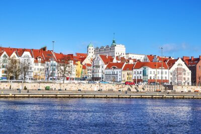 Obraz widok Szczecina nabrzeża, Polska.