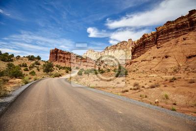 Obrazek malownicza droga, podróży pojęcie, usa.