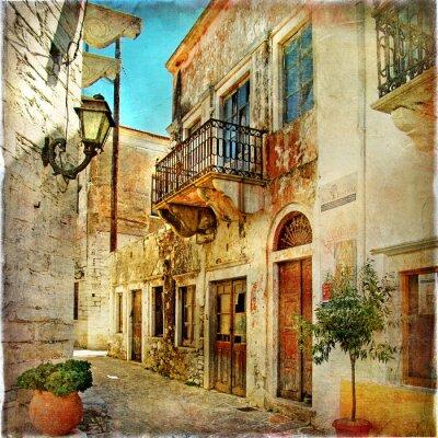 obrazkowych stare ulice Grecji