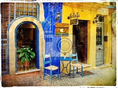 obrazkowych stare ulice Grecji - Chania, Kreta