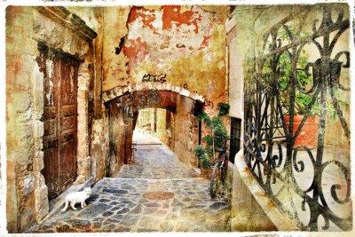 Obraz obrazkowych stare uliczki Grecja, Kreta