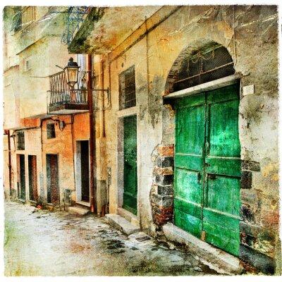 obrazkowych stare uliczki Włoch