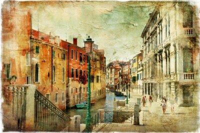 obrazkowych ulice Wenecji. artystyczny obraz
