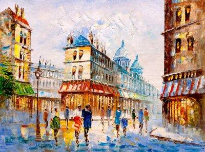 Obraz Oil Painting - Street View of Paris