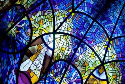 Obraz okna kościoła, witraże