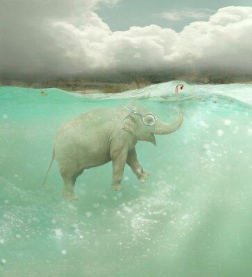 Obraz Okręt podwodny słoń