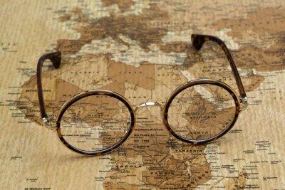 Obraz Okulary na mapie świata - Afryka