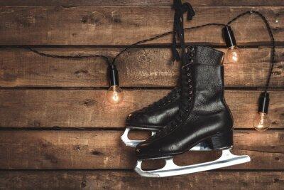 Obraz Old Black Figure Ice Skates