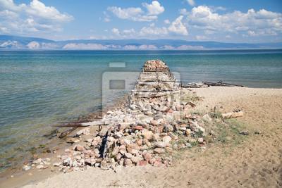 Old damaged pier, Lake Baikal