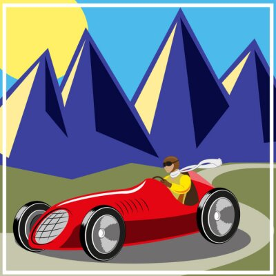 Obraz old fast race car