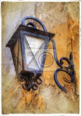 old lantern-artystyczne zdjęcie archiwalne