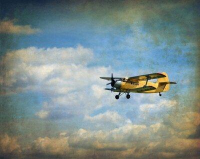 Obraz Old latania dwupłatowiec, retro tle lotnictwa