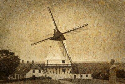 Obraz Old Mill Postcard