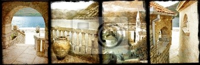old Montenegro - vintage collage