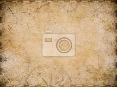 Obraz old nautical map background