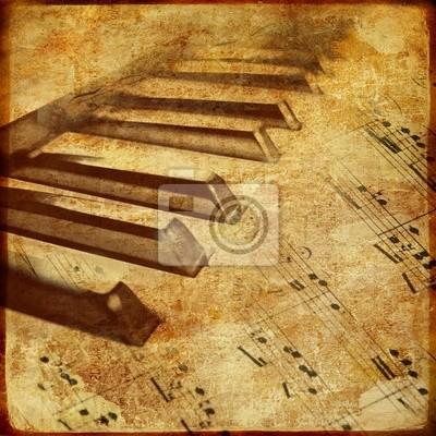 old piano - tło muzyczne