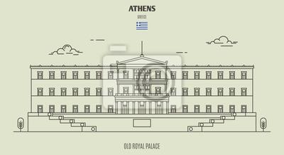 Old Royal Palace of Athens, Greece. Landmark icon