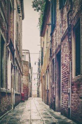 Obraz Old Street View w Wenecji, Włochy.