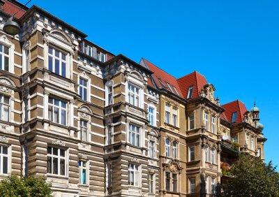 Old tenement houses on Slaska Street in Szczecin, Poland.