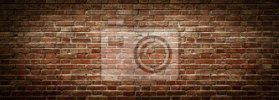 Obraz Old wall background with stained aged bricks