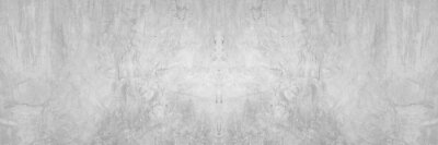 Obraz Old wall panorama texture cement dirty gray with black  background abstract grey and silver color design are light with white background.