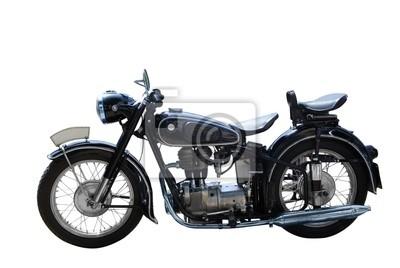 oldtimer motocykl wyizolowanych