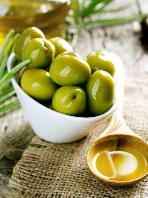 Obraz oliwki i oliwa z oliwek