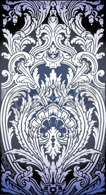 Obraz one patron of seamless pattern of Luis XIV bedroom