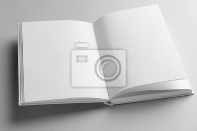 Obraz Open book on light background