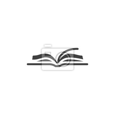 Obraz Open book vector icon. filled flat sign for mobile concept and web design. Book pages glyph icon. Symbol, logo illustration. Vector graphics