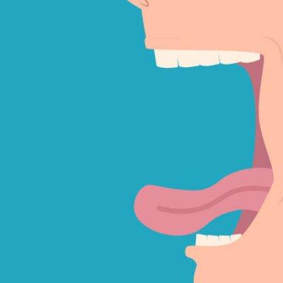 Obraz Open mouth profile.