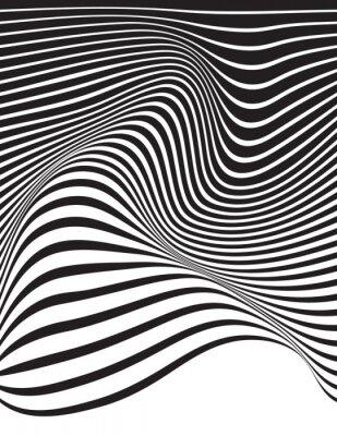 Obraz optyczne sztuki Opart paski faliste tle