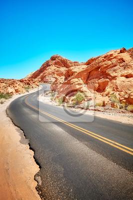 Opustoszała droga, podróży pojęcie, dolina ogień, Nevada, usa.