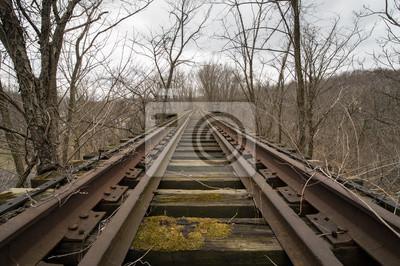 Opuszczony mostu kolejowego