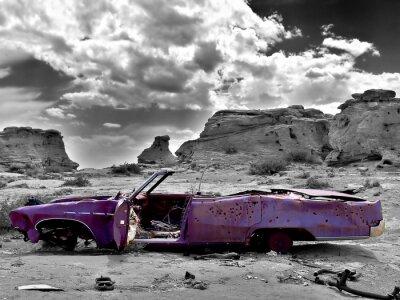 Obraz opuszczony samochód