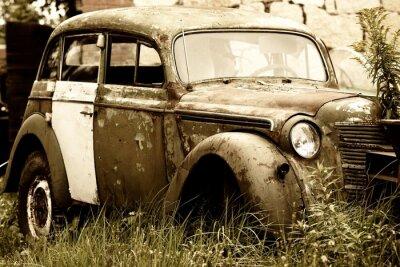 Obraz Opuszczony stary samochód