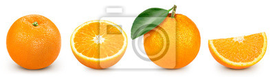Obraz orange isolated on white