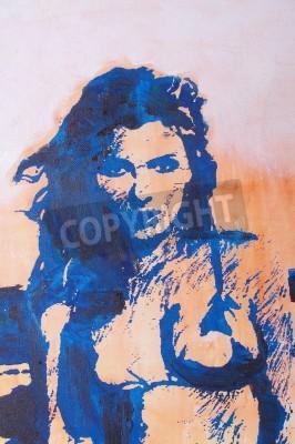 Obraz Original oil painting artwork on textured canvas