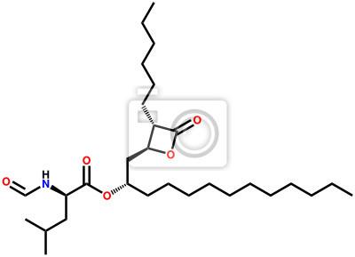 Orlistat (lek leczenie otyłości) wzór strukturalny