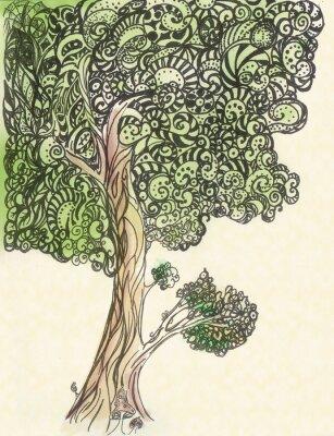 Obraz Oryginalna stylizowane drzewo