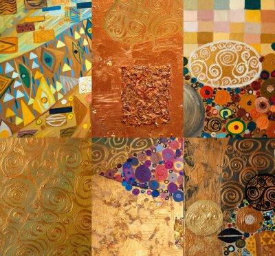 Obraz Oryginalny Malarstwo abstrakcyjne olej na płótnie, collage