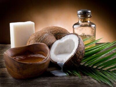 Obraz orzech kokosowy naturalne oleje i mydła