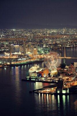 Obraz Osaka wgląd nocy na dachu
