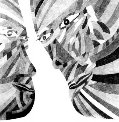Obraz osób Cube