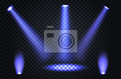 Oświetlenie sceny, efekty przezroczyste na ciemnym tle kratki. Jasne oświetlenie z reflektorami.