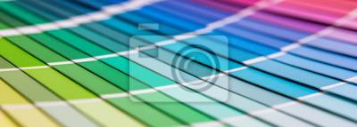 Obraz Otwarty Katalog próbki kolorów Pantone.