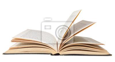 Obraz Otwórz księgę samodzielnie na białym tle