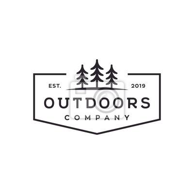 Obraz outdoor tree vector logo design